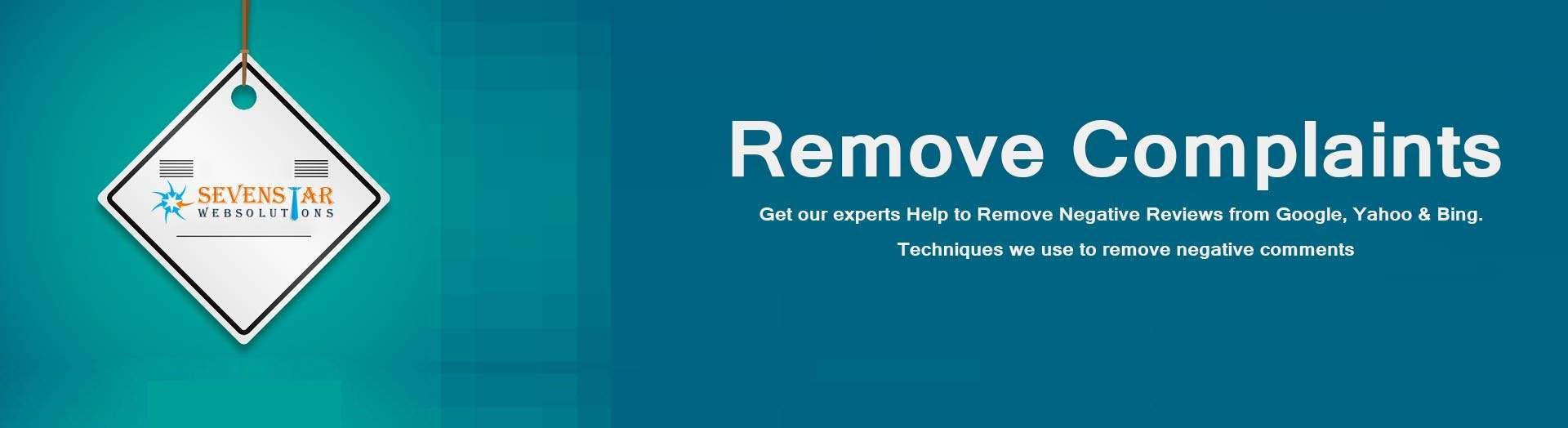 Remove complaints form website